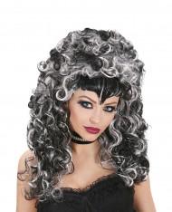 Parrucca vampiro bicolore donna Halloween