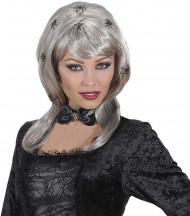 Image of Parrucca con ragni donna Halloween