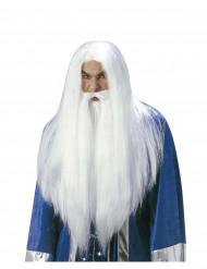 Parrucca da mago con barba adulto