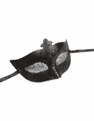Maschera veneziana nera adulto