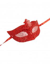 Maschera veneziana rossa per adulti