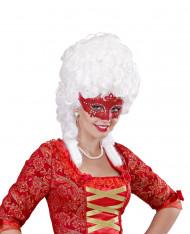Maschera veneziana strass rossi adulto