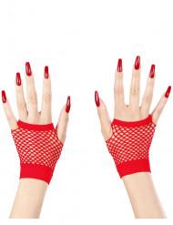 Guantini senza dita a rete rossi