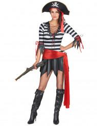 Costume pirata con minigonna donna