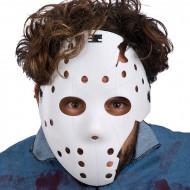 Maschera hockey bianca adulto Halloween