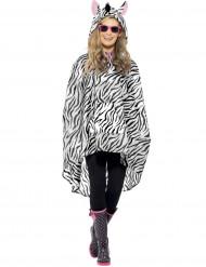 Poncho zebra adulto