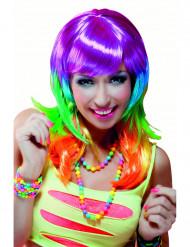 Parrucca lunga multicolore donna