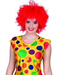 Parrucca clown colorata rossa donna