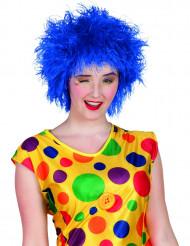 Parrucca clown colorata blu donna