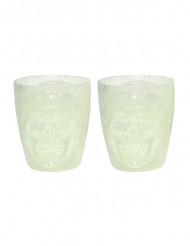 Bicchieri fosforescenti con teschio