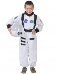 Costume tuta bianca da astronauta bambino
