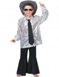 Camicia disco argento bambino