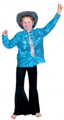 Camicia disco blu bambino