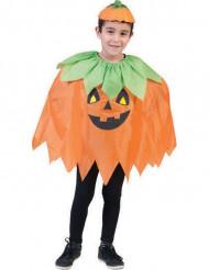 Poncho zucca per bambino per Halloween