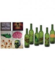 6 Decorazioni per bottiglie Halloween