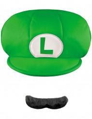 Cappello e baffi Luigi™ bambino