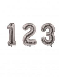 Palloncino alluminio numero argentato 85 cm