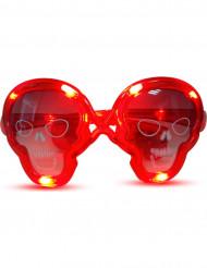 Occhiali luminosi rossi teschio
