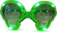 Occhiali luminosi verdi teschio