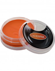 Trucco bianco ad acqua arancione