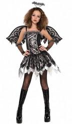 Costume angelo nero da adolescente