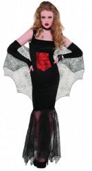 Costume vampiro donna con dettagli ragnatela