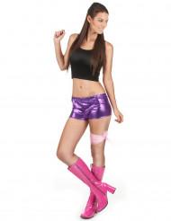Pantaloncino disco viola adulto