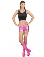 Pantaloncino disco rosa adulto