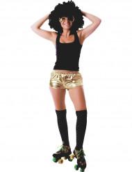 Pantaloncino disco dorato adulto