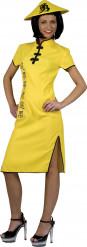 Costume giallo da donna cinese