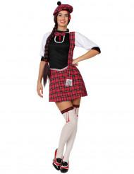 Costume da scozzese rosso da donna