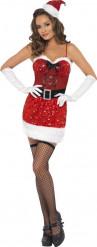 Costume Mamma Natale sexy con lustrini