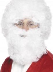 Barba e parrucca bianca adulto Natale