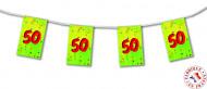 Ghirlanda con bandierine 50 anni