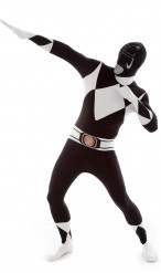 Costume seconda pelle Morphsuits™ Power Rangers™ nero adulto