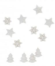 12 Decorazioni per la tavola Natale bianche