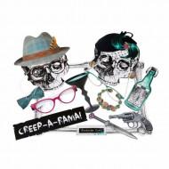 Kit per servizio fotografico da scheletri per Halloween