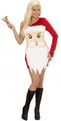 Costume testa di Babbo Natale donna