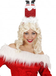 Cerchietto umoristico caminetto Natale