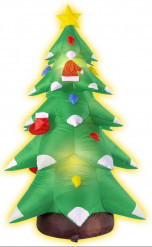 Decorazione albero di Natale gonfiabile