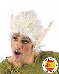 Parrucca bianca e orecchie da elfo