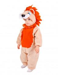 Costume da leone criniera arancio per neonato
