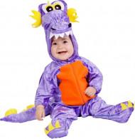 Costume draghetto viola bebé