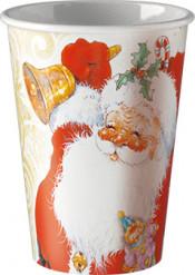 8 Bicchieri di carta Babbo Natale