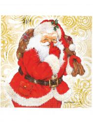 20 Tovagliolini Babbo Natale 33 x 33 cm carta