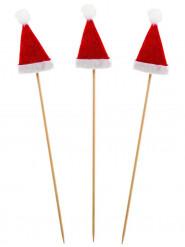 Decorazione Natale: 12 stecchini Cappello di Babbo Natale