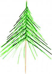 Decorazione Natale: stecchini decorativi albero di natale