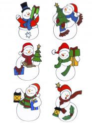 Decorazione natalizia per finestre pupazzo di neve