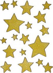 Decorazioni per finestre stelle dorate di Natale