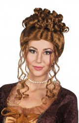 Parrucca rinascimentale castana per donna
